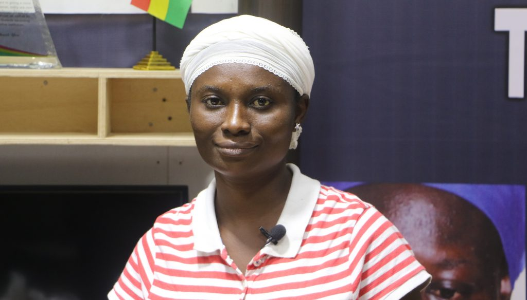 38 year old Nana Akua, a widow and mother of six gets further support from Crime Check Foundation (CCF) to start up a business which will help her cater for her children.
