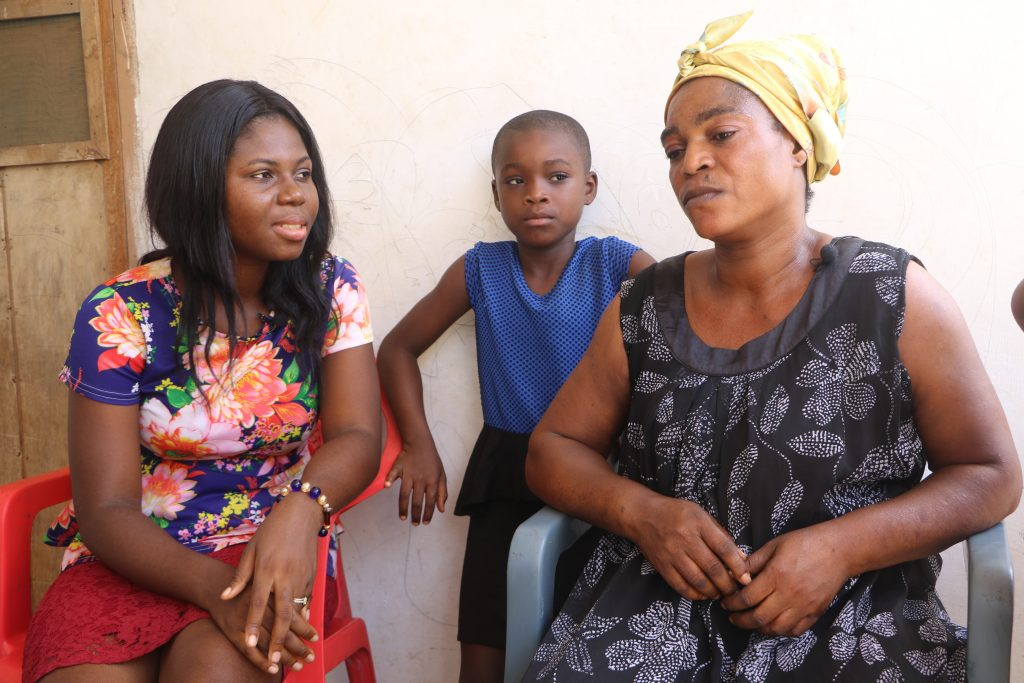 45year old Akua Georgina, a mother of two children who lives at sakaman in the Greater Accra Region of Ghana tells crimecheckghana that she extremely suffers to take care of her children.