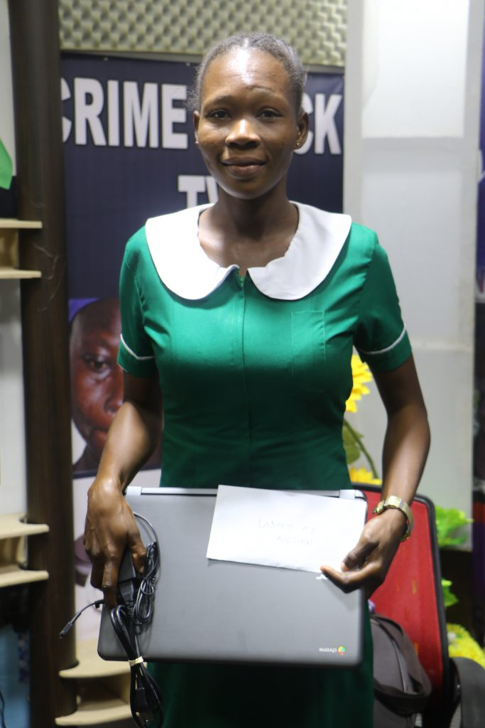 Luck has smiled on Alice Bonye, an ex-convict as Crime Check Foundation gives her a laptop to aid her learning in a Nursing and Midwifery Training College.