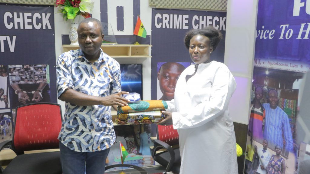 Crime Check Foundation CCF has surprised pregnant commercial sex worker, Gifty Nketia as all hopes of keeping her unborn child was lost. The sex worker has received support.