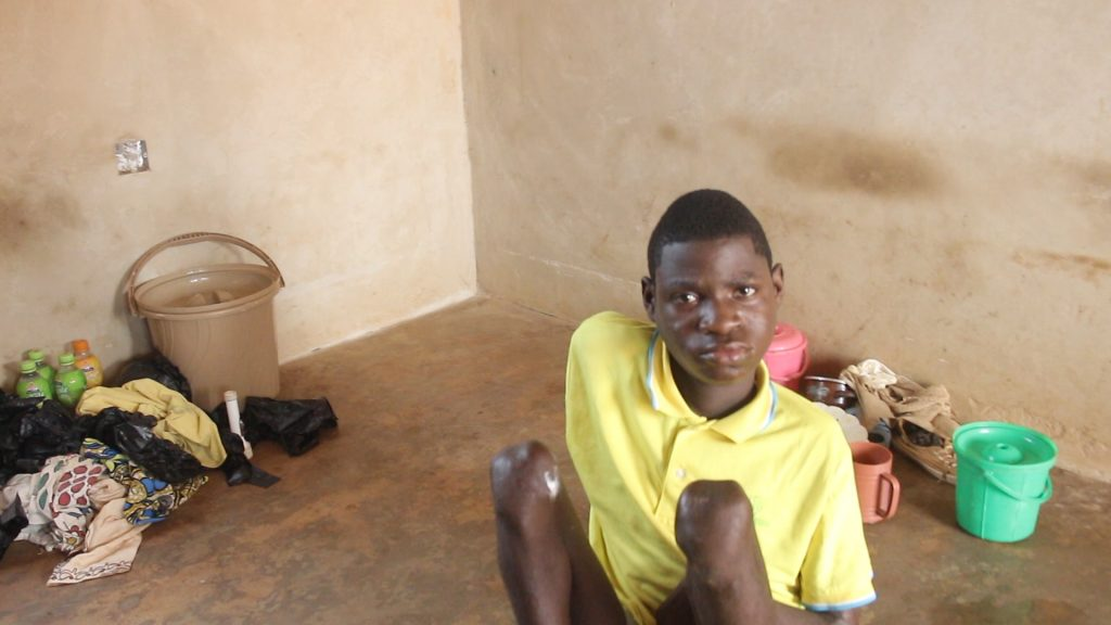 """My brother had a terrible dream in which he was hit in the leg with a stick. Not long after that, he has become paralyzed"": these are the words of Boakye Joseph, the senior brother of two physically challenged orphans."