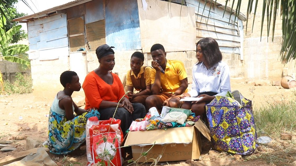 """I would not have been a beggar if my husband were alive. My husband did his best to cater for our family"" says a 48year old widow, Rebecca Williams who lives at Old Bortianor in the Greater Accra Region."