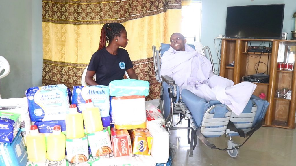 """""""I know God has something good for me so I am never discouraged"""": says hopeful Philip Bentum Turkson as Crime Check Foundation pays him a visit."""