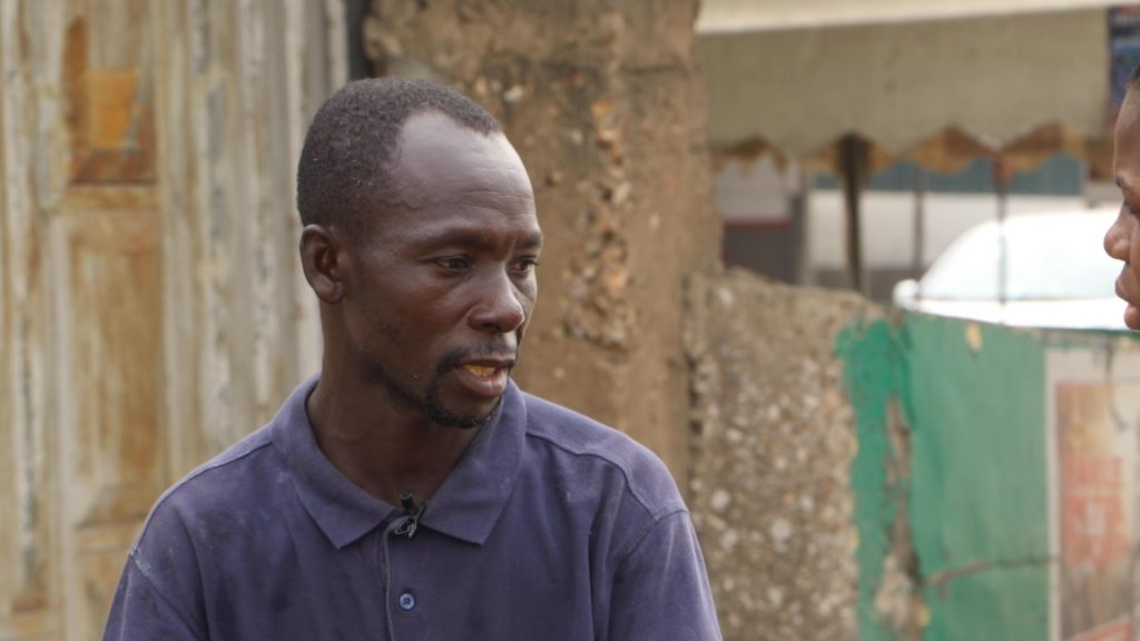 42year old coconut seller, Kwao Issah sleeps on the streets of Accra while struggling to survive.
