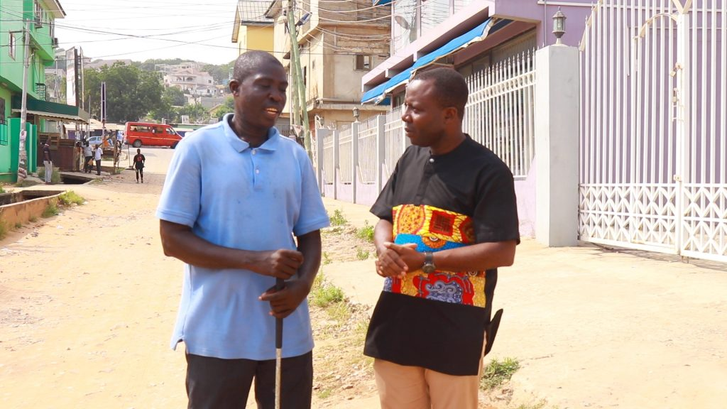 This is the case of Kwadwo Atta and Kofi Arkoh aged 52 and 42 respectively from Agona Kwanyako in the Central Region of Ghana. The two visually impaired men depend on begging proceeds on the streets of Accra for a living.