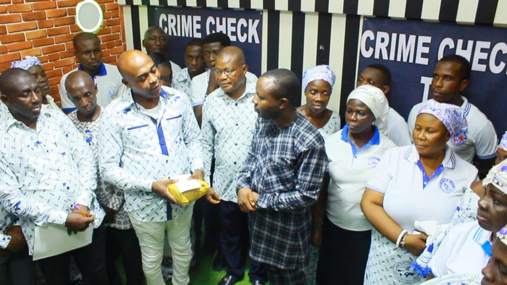 Paradise Prayer Center, a prayer group at South Odorkor in the Greater Accra Region, Ghana as part of its head pastor's birthday celebration has donated an amount of fifty thousand Ghana cedis to Crime Check Foundation CCF to support prisoners and the marginalized in society.