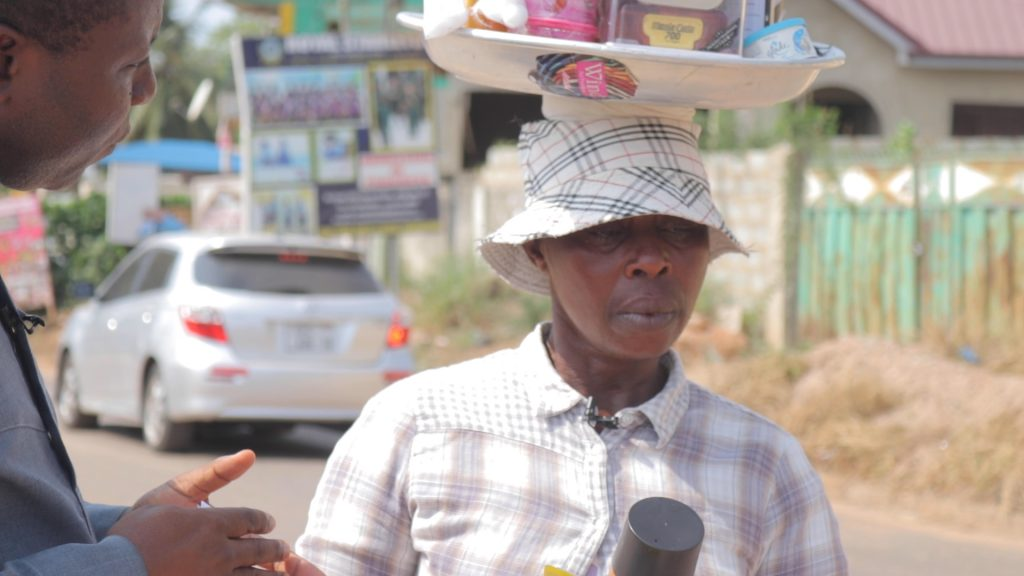 The 46 year old Madam Addo Diana whose capital is two hundred Ghana cedis has been hawking on the streets of Accra for over eight years.